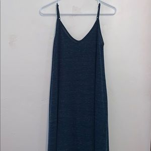 Heather blue maxi dress with pockets!